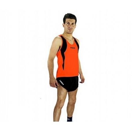 Strój do biegania LEGEA Fiji Fluo pomarańczowo-czarny