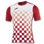 T-shirt Joma Flag biało-czerwony