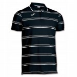 Koszulka Polo Joma Naval czarno-biała