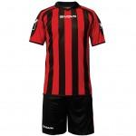 Strój Givova Kit Supporter czarno-czerwony